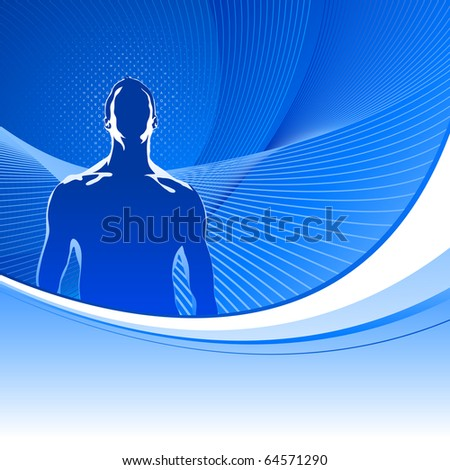 Abstract medical background with male silhouette.