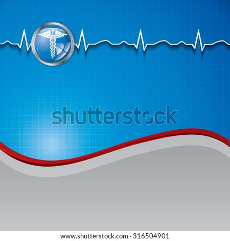 Abstract medical background with medical symbol.  - stock photo