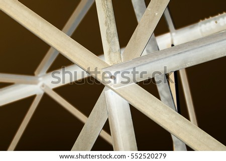 abstract metal background in inversion