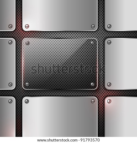 Abstract metal background. Jpeg version.