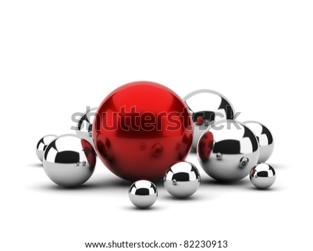 abstract metal balls - stock photo