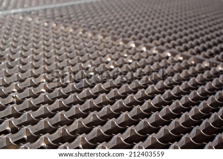 abstract metal grid background and texture