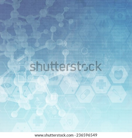 Abstract metal molecules medical background  - stock photo