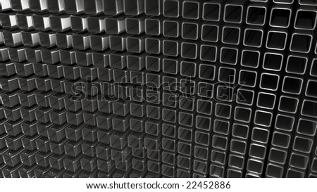 Abstract metal square background