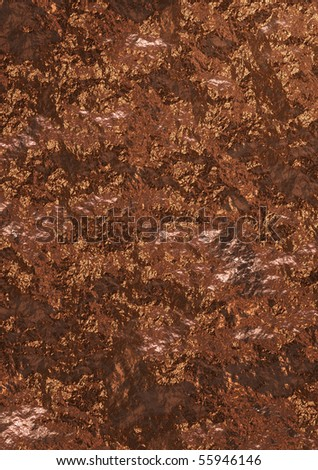 Abstract metallic background of gold and brown color
