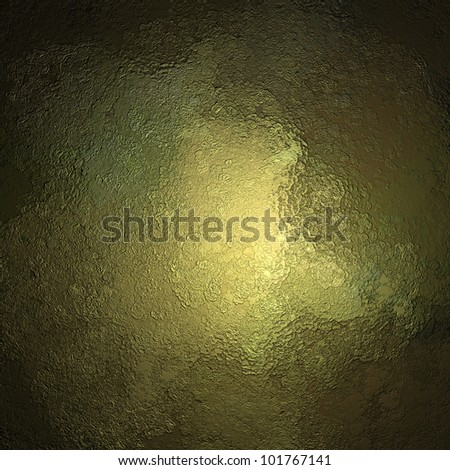 abstract metallic background texture on green gold background with grunge black border, metal background or yellow gold paper or painted cement background for elegant brochure or web design - stock photo