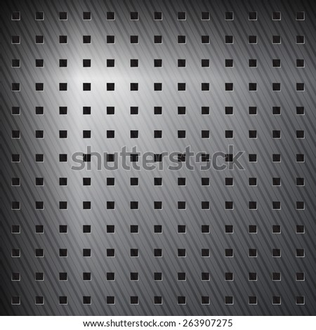 abstract metallic background with aluminum striped surface - stock photo