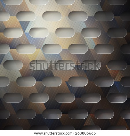 abstract metallic background with colored surface. industrial wallpaper design - stock photo