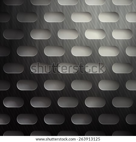 abstract metallic background with scratched surface - stock photo