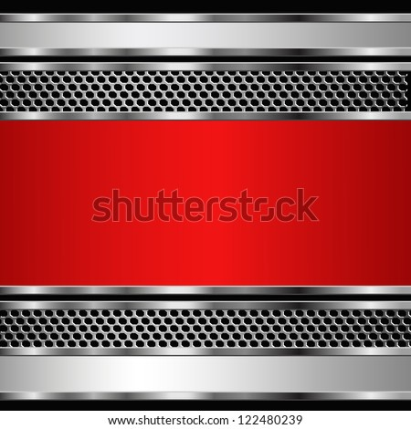 Abstract metallic business background. Raster copy of vector illustration - stock photo
