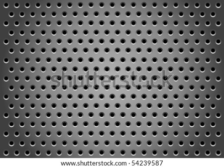 Abstract metallic holes background for design - stock photo