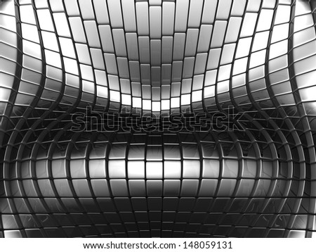 Abstract metallic silver background 3d illustration - stock photo