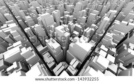 abstract metropolis 02 - stock photo