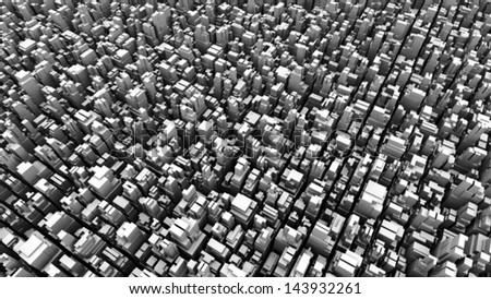 abstract metropolis 04 - halftone - stock photo