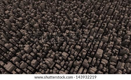 abstract metropolis 04 - halftone - retro - stock photo