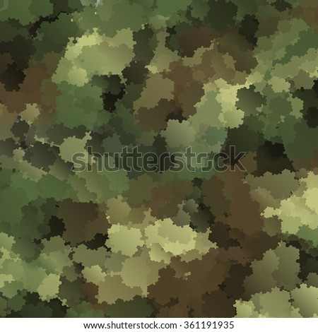 Abstract Military Camouflage Background Made of Splash - stock photo