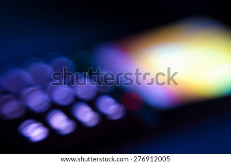 Abstract mobile phone display lights, blurred vision - stock photo