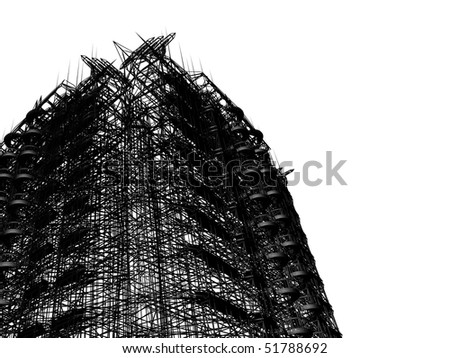 abstract modern architecture - stock photo