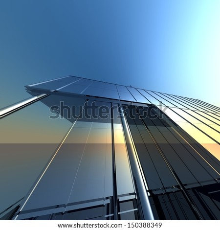 abstract modern architecture background - stock photo