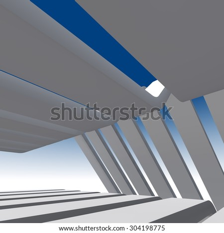 Abstract modern architecture. 3d rendering