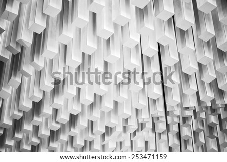 Abstract modern architecture fragment. White design elements - stock photo