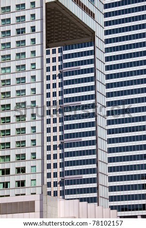 Abstract modern architecture of corporate office buildings - stock photo