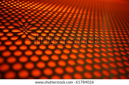 Abstract modern background with orange circles - stock photo