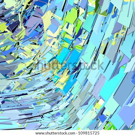 abstract modern blue green yellow wave pattern - stock photo