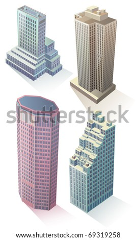 Abstract modern buildings - stock photo