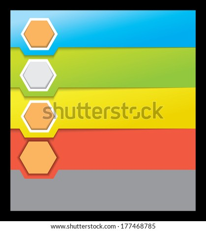 abstract modern hexagon,background - stock photo