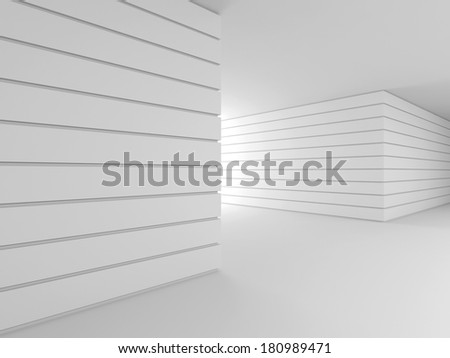 Abstract modern interior, corridor. 3D rendering of the interior of the building.