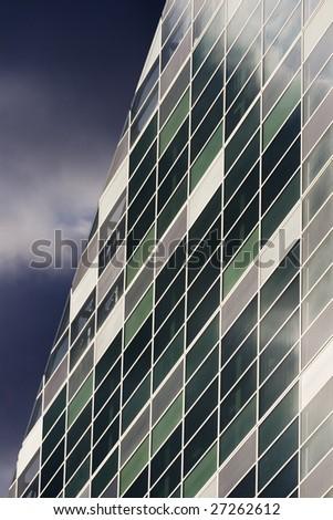 Abstract Modern Office Windows, London UK - stock photo