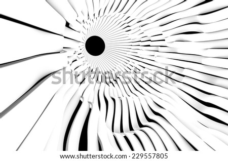 Abstract modern tunnel wavy band futuristic on white - stock photo