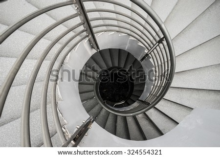 Abstract modern wirling staircase fron Singapore