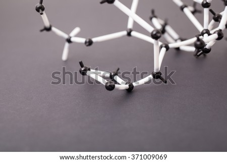 Abstract molecular structure. Science background with molecules. - stock photo