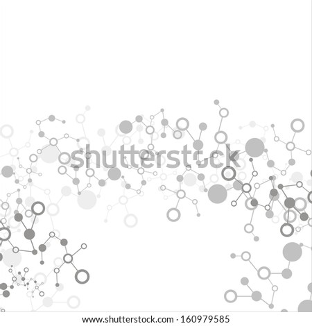 Abstract molecular stucture background