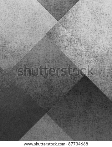 abstract monochrome gray and white background with parchment or fiber rectangle layers in layout design with faded grunge texture - stock photo