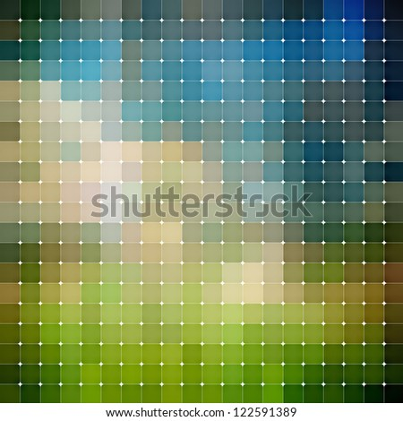 abstract mosaic background - stock photo