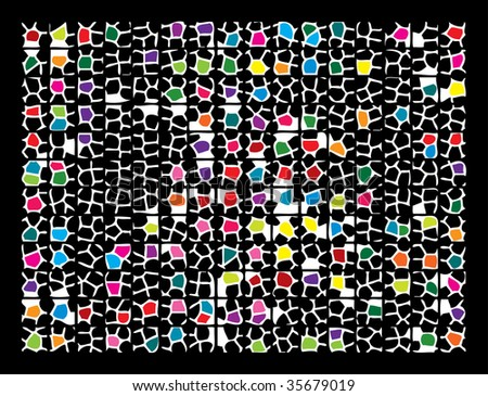 Abstract mosaic background. Raster illustration.