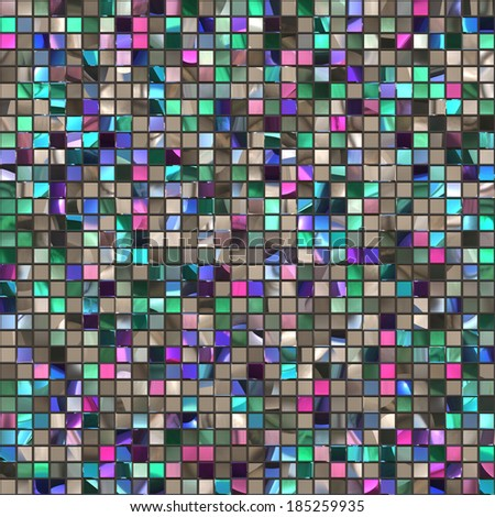 Abstract mosaic ceramic seamless texture background.