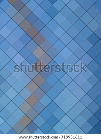 abstract mosaic grid squares and blue color.illustration