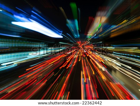 abstract motion blur background - stock photo