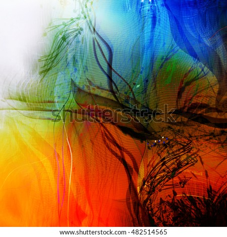 Abstract motion composition. Modern futuristic dynamic background