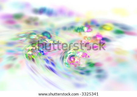 Abstract motley rotating background generated over white - stock photo