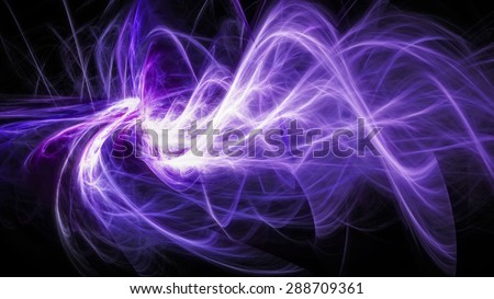 Abstract moving glowing energy - stock photo