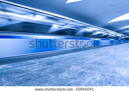 abstract moving train