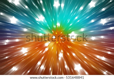 Abstract multicolor background. Explosion star. illustration digital.
