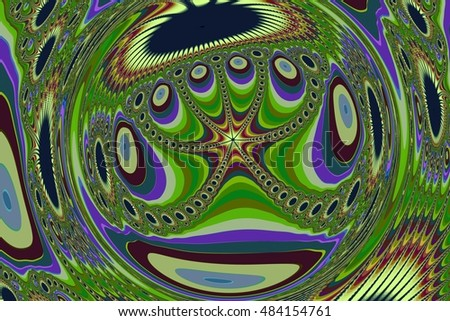 abstract multicolor distortion octopus fractal