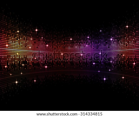 abstract multicolor music disco party events background - stock photo
