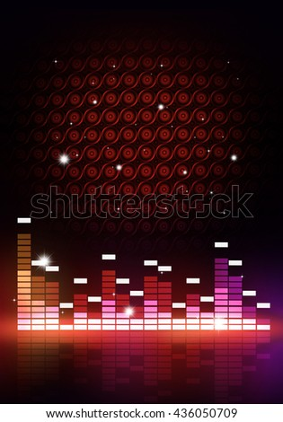 abstract multicolor music equalizer poster for party events - stock photo